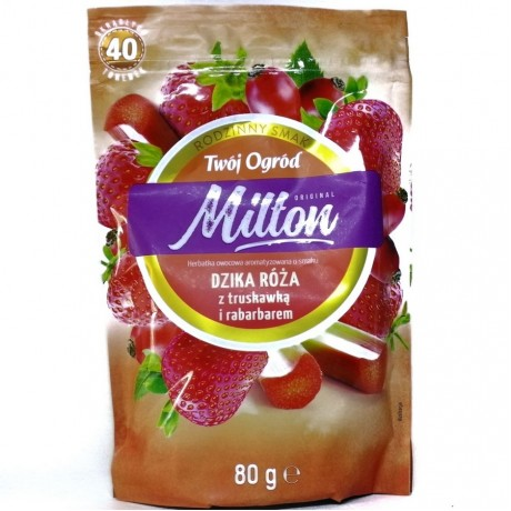 Чай Милтон дикая роза, клубника, барбарис Milton Dzika Roza 40 пак
