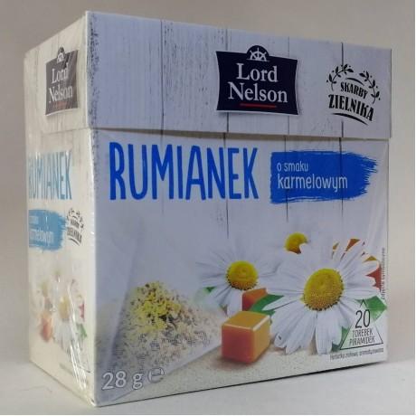 Чай ромашки с карамельным вкусом Rumianek 20 пак, Lord Nelson