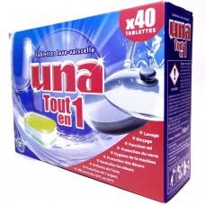 Таблетки для посудомоечных машин Una Tout en 1 40 шт, Германия