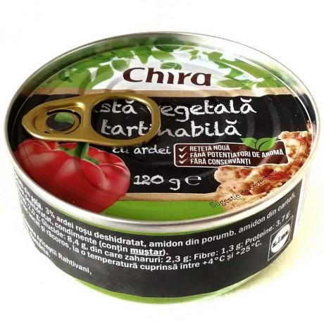 Паштет овощной с сладким перцем Chira Pasta Vegetala Tartinabila 120г