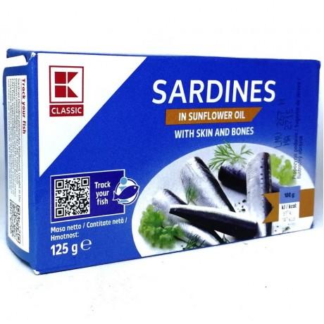 Сардины в масле Sardines in Sunfloweroil 125 г, Classic