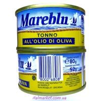 Тунец в оливковом масле Мареблу Mareblu Tonno 80 г, Италия