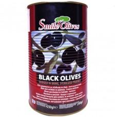Маслины крупные с косточками Ø 121-140 Black Olives 4250г, Греция