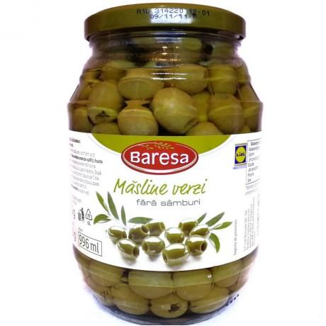 Оливки зеленые без косточки Бареса Masline verzi 920г, Baresa