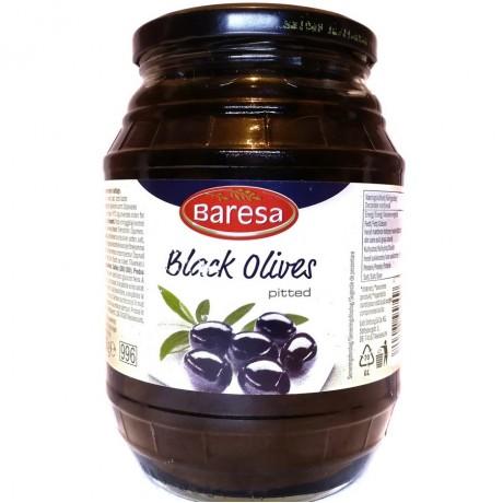 Маслины черные без косточки Бареса Black Olives 920г, Baresa