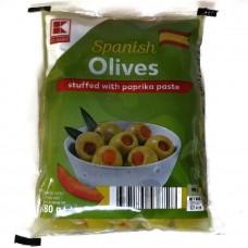 Оливки зеленые с перчиком Spanish Olives with paprika 180г, Classic