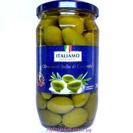Оливки крупные с косточкой Italiamo, Италия, 700 мл