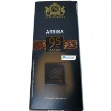 Шоколад черный Dark Chocolate Arriba 95% cacao 125 г