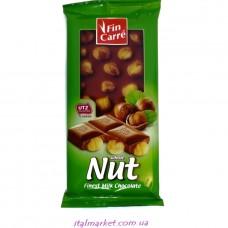 Шоколад с цельными орехами Fin Carre Nut finest milk chocolate 100 г