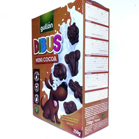 Печенье шоколадное детское Dibus Mini Cocoa 250г, Gullon