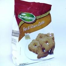 Печенье из рисовой муки Fior di Riso e Latte 700 г, Италия
