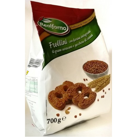 Печенье из гречаной муки Fior di integrale di grano saraceno 700 г, Италия