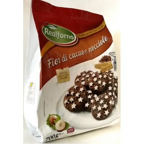 Печенье с какао Fior di cacao e nocciole 700 г, Италия
