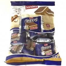 Мини-вафельки с орехом Carre Minis 200г (19 шт), Sondey