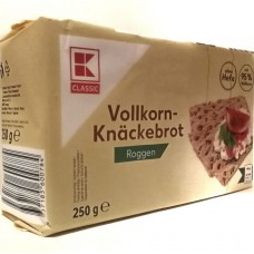 Хлебцы ржаные цельнозерновые Vollkorn Knackebrot Roggen 250г