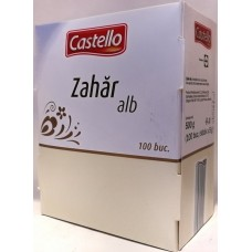 Сахар белый в стиках Zahar Alb (100шт по 5г) 500г, Castello