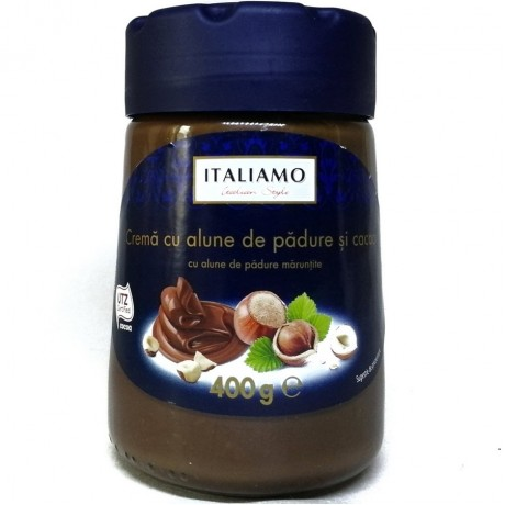 Ореховый крем с какао Crema cu alune 400г, Italiamo