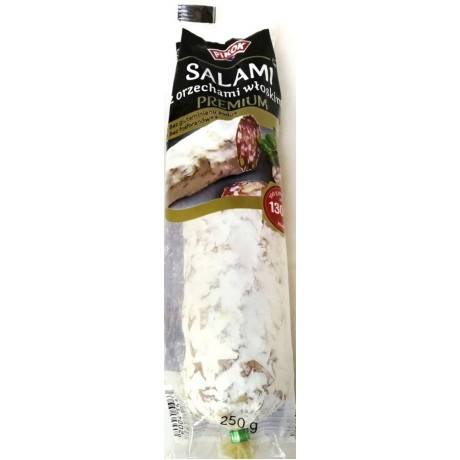 Колбаса салями с орехами Pikok Salami Premium 250г, Франция