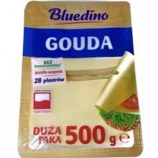 Сыр Гауда нарезка Ser Gouda 28 Plastrow 500 г, Польша
