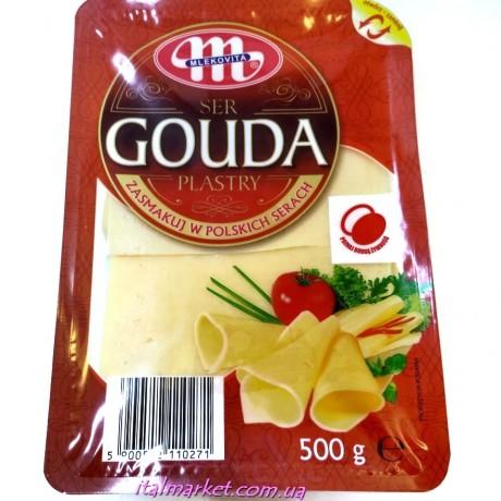 Сыр Гауда нарезка Gouda Plastry 500 г