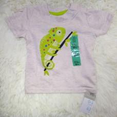 Детская футболка с зеленой игуаной (размер 62)