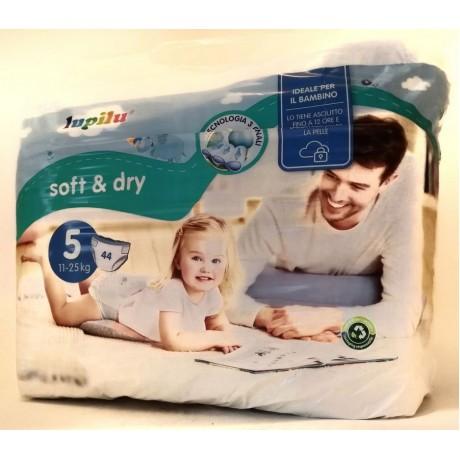 Подгузники Lupilu Soft&Dry размер №5 (11-25 кг)  44 шт